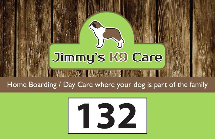 Jimmys K9 door sign PRESS READY