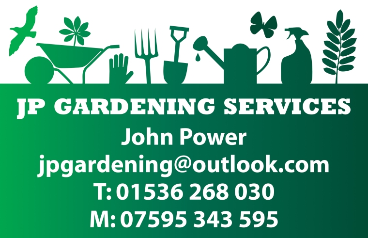 J P Gardening Services business card