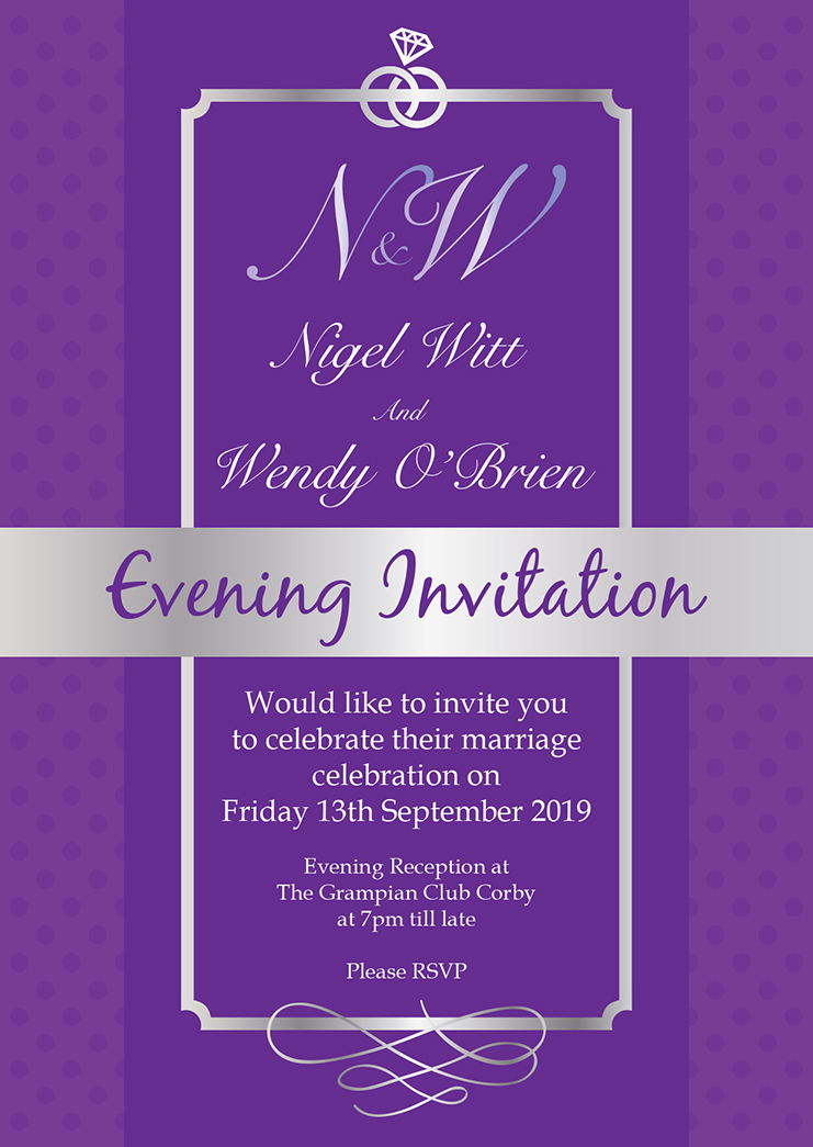 Nigel Wendy evening invite A6 270818