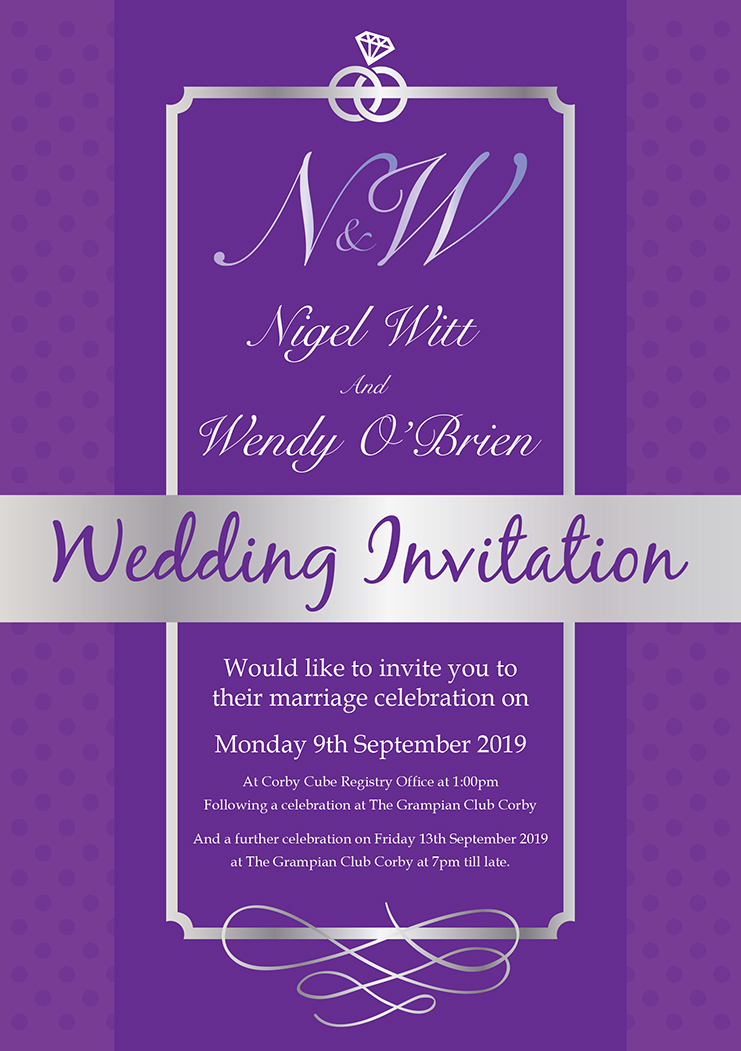 Nigel Wendy Wedding Invite A5 270818